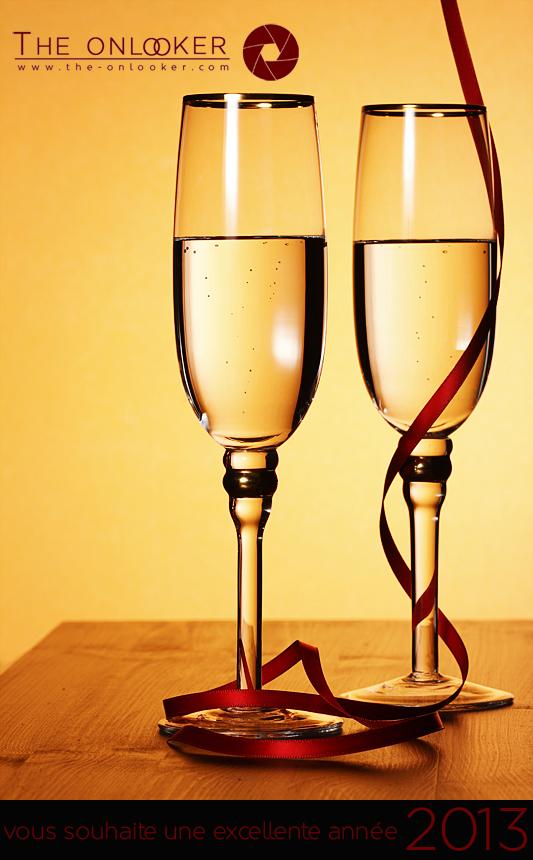 champagne bonne année voeux 2013