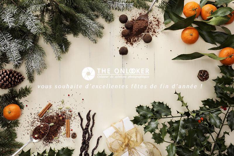 carte de Noël clémentines sapin chocolats